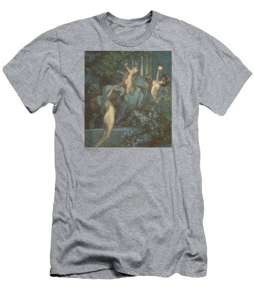 Centaur Nymphs And Cupid Men's T-Shirt (Slim Fit) by Franz von Bayros