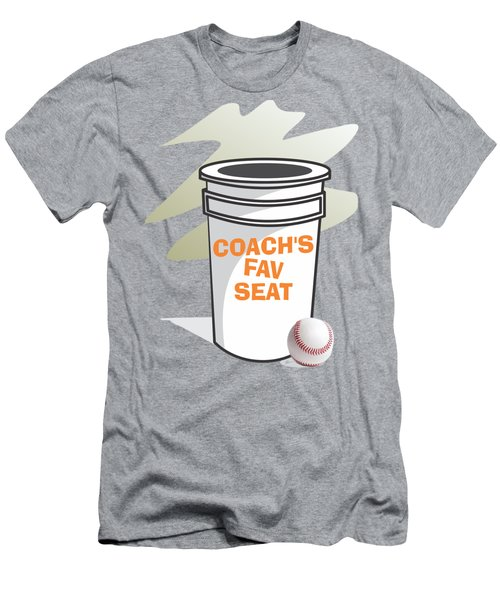 Coach's Favorite Seat Men's T-Shirt (Slim Fit) by Jerry Watkins