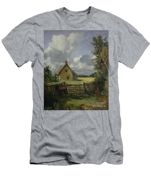 Cottage In A Cornfield Men's T-Shirt (Slim Fit) by John Constable