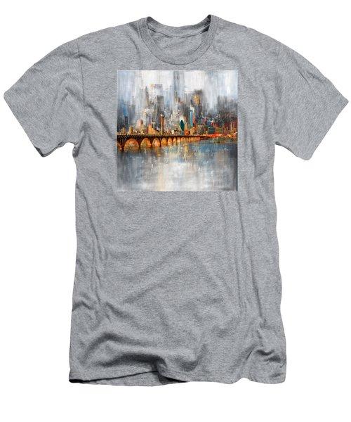 Dallas Skyline 217 1 Men's T-Shirt (Slim Fit) by Mawra Tahreem