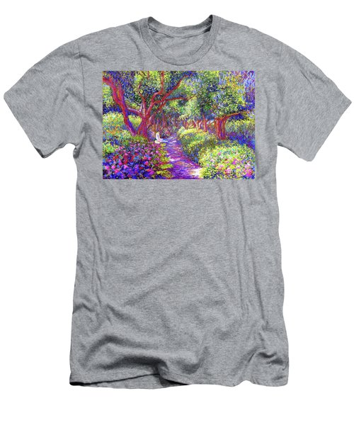 Dove And Healing Garden Men's T-Shirt (Slim Fit) by Jane Small