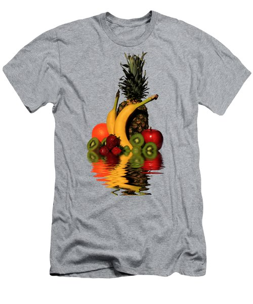 Fruity Reflections - Medium Men's T-Shirt (Slim Fit) by Shane Bechler