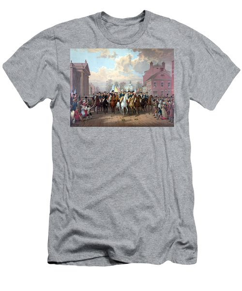 General Washington Enters New York Men's T-Shirt (Slim Fit) by War Is Hell Store