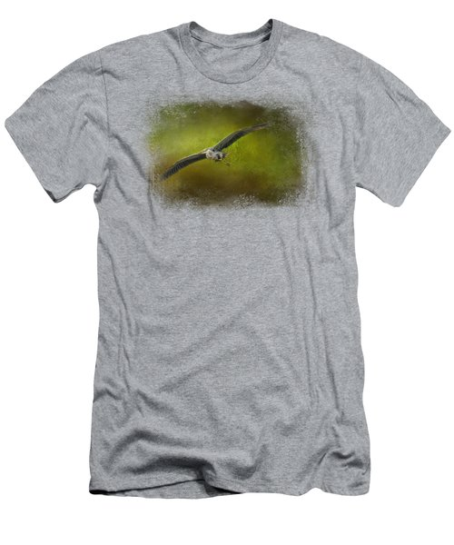 Great Blue Heron In The Grove Men's T-Shirt (Slim Fit) by Jai Johnson