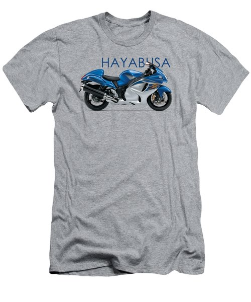 Hayabusa In Blue Men's T-Shirt (Slim Fit) by Mark Rogan