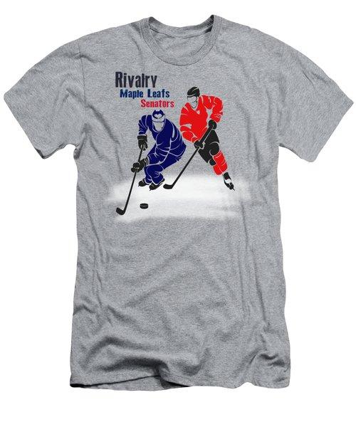 Hockey Rivalry Maple Leafs Senators Shirt Men's T-Shirt (Slim Fit) by Joe Hamilton