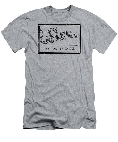Join Or Die Men's T-Shirt (Slim Fit) by War Is Hell Store