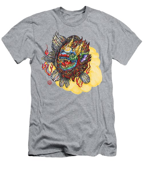 Kirin Head Ranchu Men's T-Shirt (Slim Fit) by Shih Chang Yang