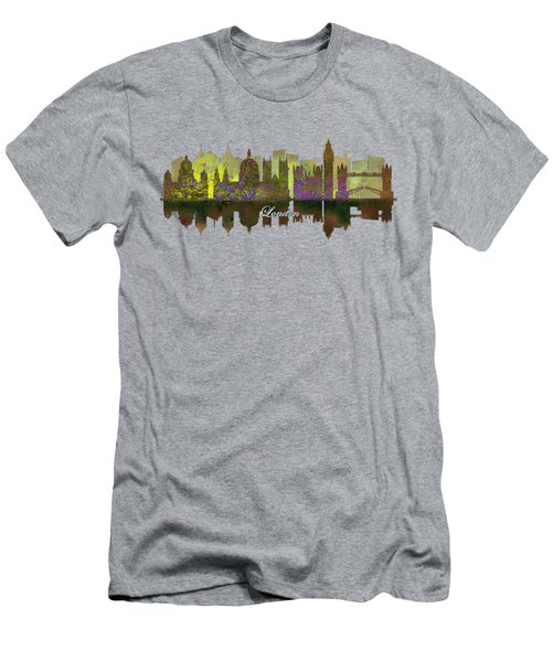 London England Skyline In Golden Light Men's T-Shirt (Slim Fit) by John Groves