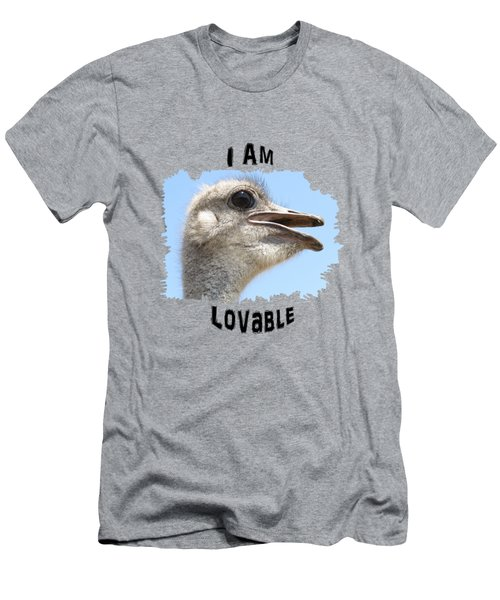Lovable Men's T-Shirt (Slim Fit) by Judi Saunders