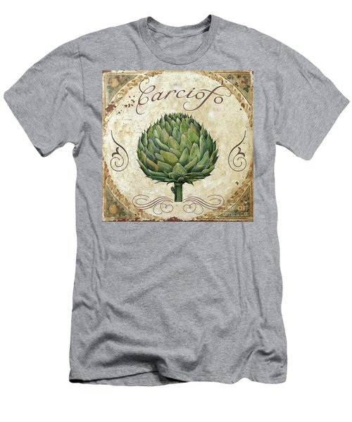 Mangia Artichoke Men's T-Shirt (Slim Fit) by Mindy Sommers