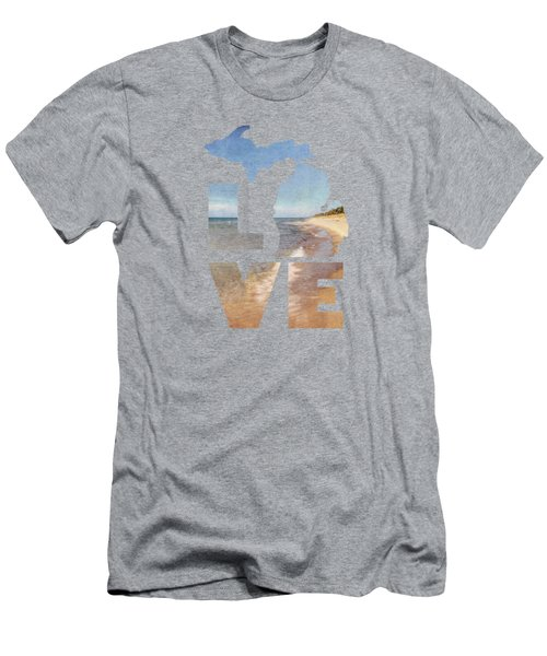 Michigan Love Men's T-Shirt (Slim Fit) by Emily Kay