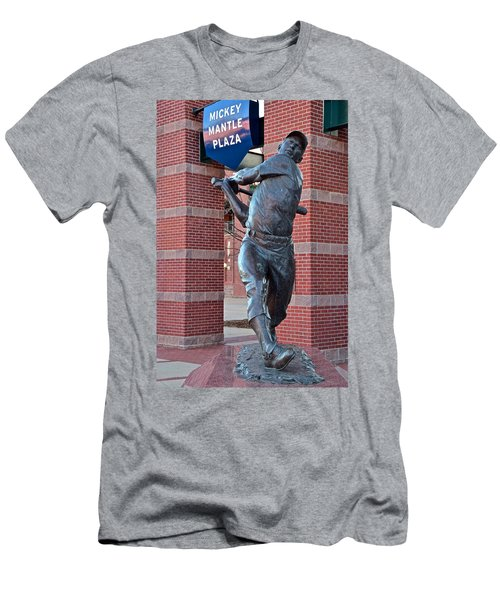 Mickey Mantle Plaza Men's T-Shirt (Slim Fit) by Frozen in Time Fine Art Photography