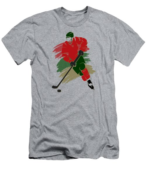 Minnesota Wild Player Shirt Men's T-Shirt (Slim Fit) by Joe Hamilton