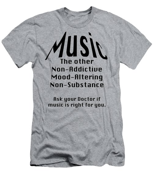 Music Is Right For You 5502.02 Men's T-Shirt (Slim Fit) by M K  Miller