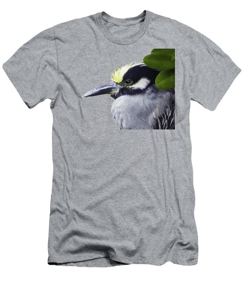 Night Heron Transparency Men's T-Shirt (Slim Fit) by Richard Goldman