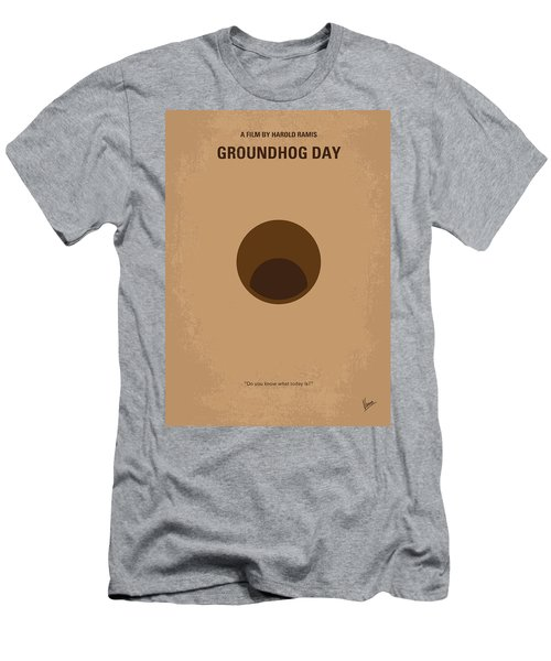 No031 My Groundhog Minimal Movie Poster Men's T-Shirt (Slim Fit) by Chungkong Art