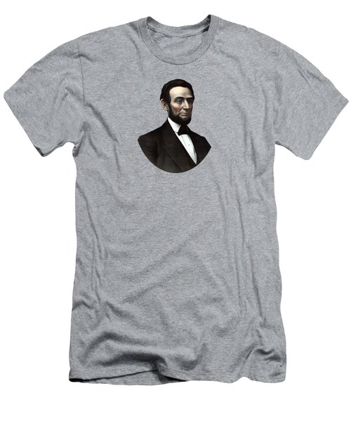 President Abraham Lincoln  Men's T-Shirt (Slim Fit) by War Is Hell Store