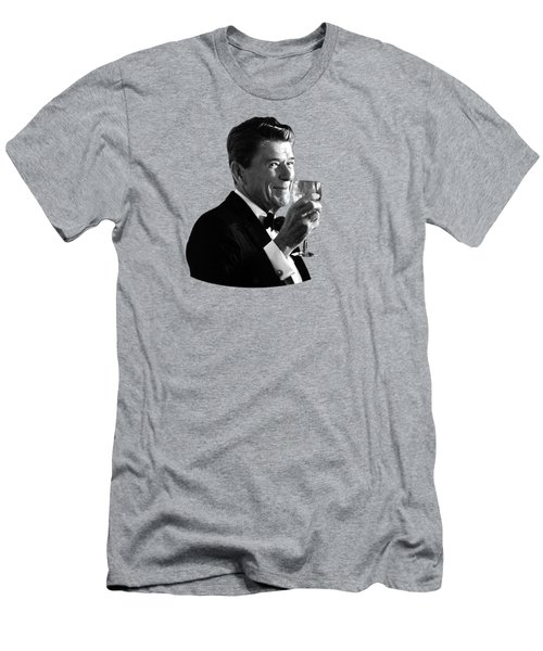 President Reagan Making A Toast Men's T-Shirt (Slim Fit) by War Is Hell Store