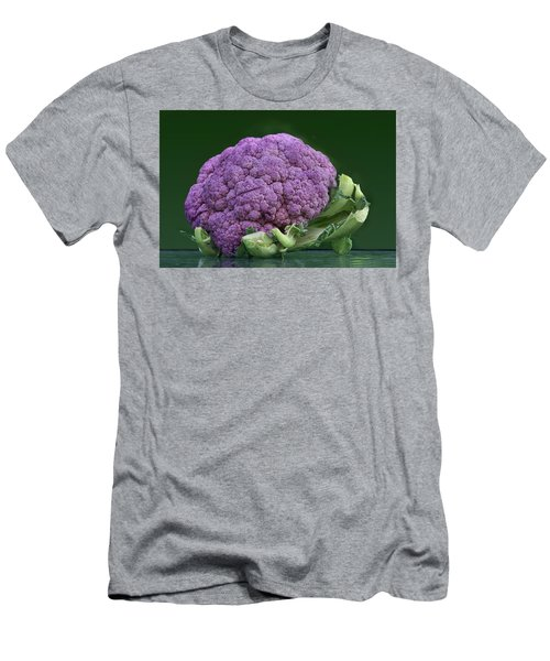 Purple Cauliflower Men's T-Shirt (Slim Fit) by Nikolyn McDonald