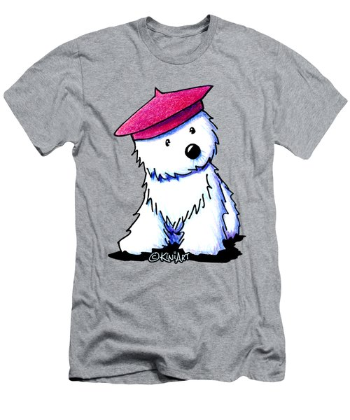 Raspberry Beret Westie Men's T-Shirt (Slim Fit) by Kim Niles