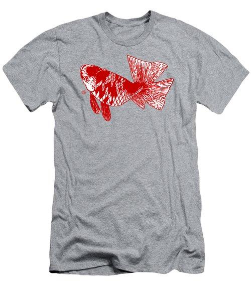 Red Ranchu Men's T-Shirt (Slim Fit) by Shih Chang Yang