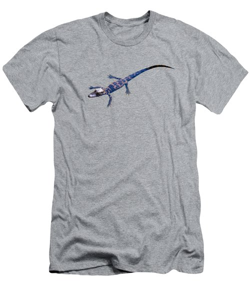 Slightly Waving A Tail. Alligator Baby Men's T-Shirt (Slim Fit) by Zina Stromberg