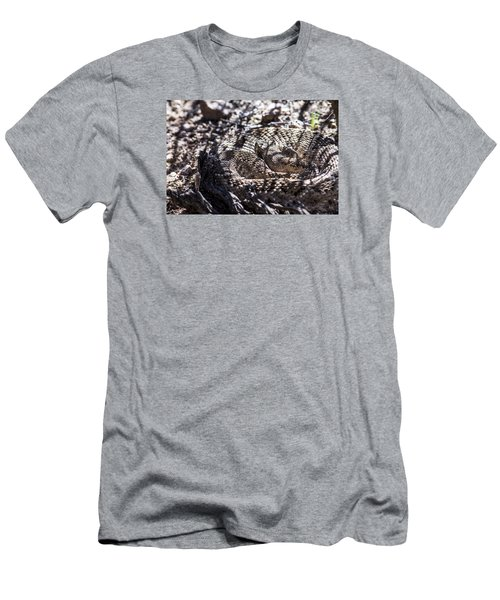 Snake In The Shadows Men's T-Shirt (Slim Fit) by Chuck Brown