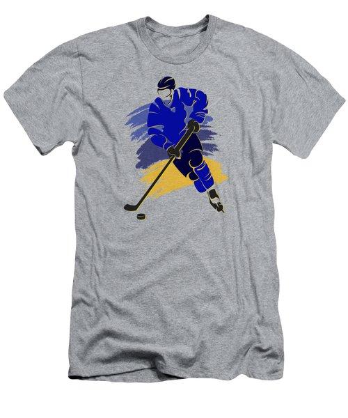 St Louis Blues Player Shirt Men's T-Shirt (Slim Fit) by Joe Hamilton