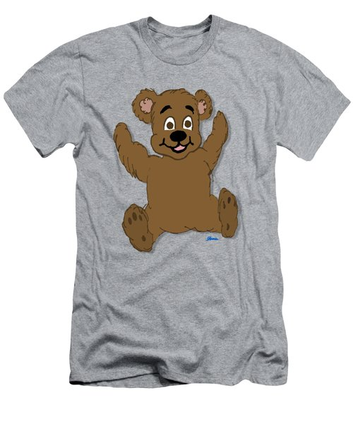 Teddy's First Portrait Men's T-Shirt (Slim Fit) by Pharris Art