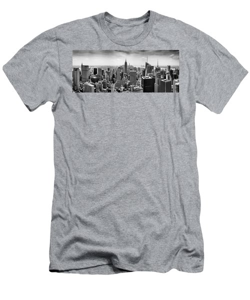 New York City Skyline Bw Men's T-Shirt (Slim Fit) by Az Jackson