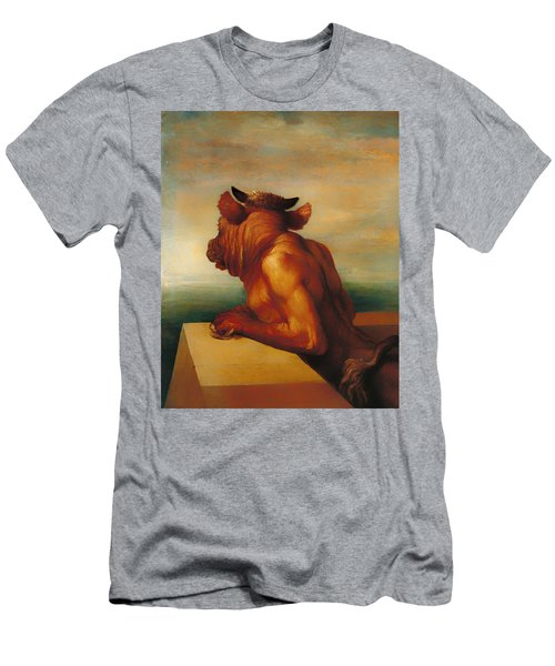 The Minotaur  Men's T-Shirt (Slim Fit) by Mountain Dreams