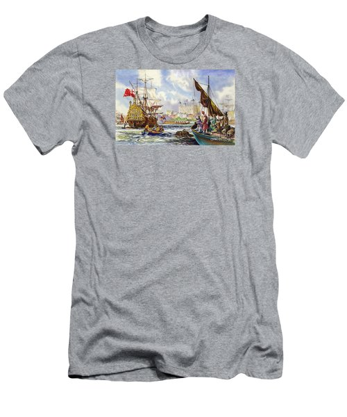 The Tower Of London In The Late 17th Century  Men's T-Shirt (Slim Fit) by English School