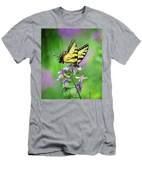 Men's T-Shirt (Slim Fit) featuring the photograph Tiger Swallowtail by Rodney Campbell