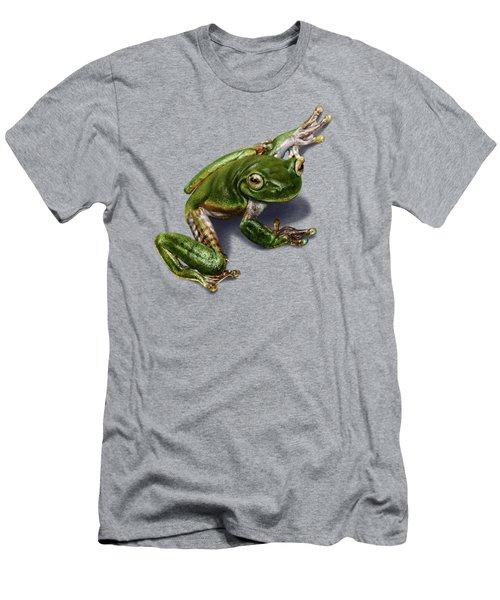 Tree Frog  Men's T-Shirt (Slim Fit) by Owen Bell