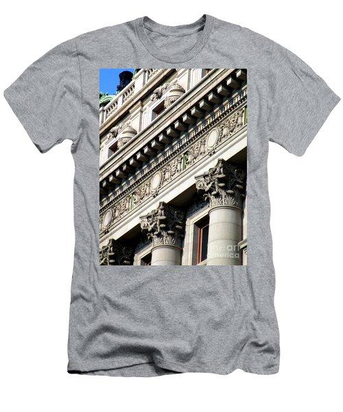 U S Custom House 2 Men's T-Shirt (Slim Fit) by Randall Weidner