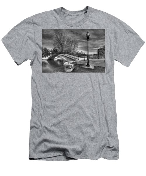Men's T-Shirt (Slim Fit) featuring the photograph Winter's Bridge by Rodney Campbell