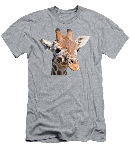 Young Giraffe  Men's T-Shirt (Slim Fit) by Scott Carruthers