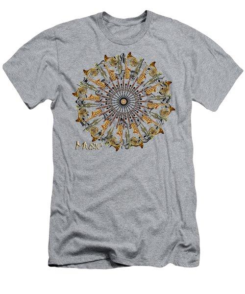 Zeerkl Of Music Men's T-Shirt (Slim Fit) by Edelberto Cabrera