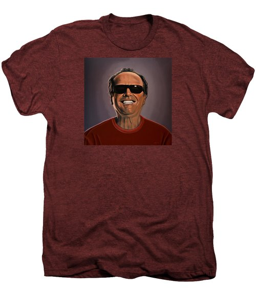 Jack Nicholson 2 Men's Premium T-Shirt by Paul Meijering