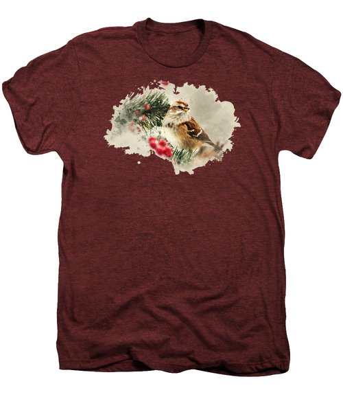 American Tree Sparrow Watercolor Art Men's Premium T-Shirt by Christina Rollo