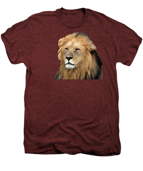 Masai Mara Lion Portrait    Men's Premium T-Shirt by Aidan Moran