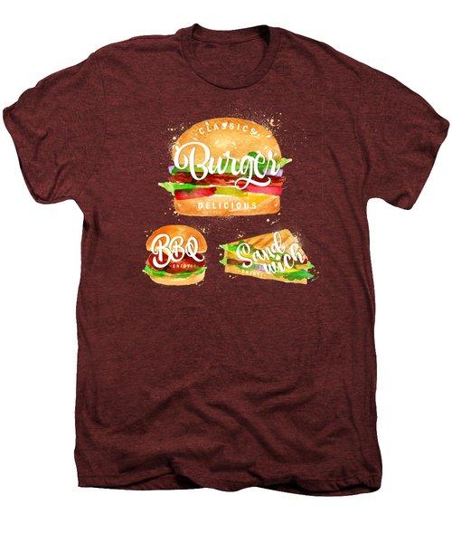 Black Burger Men's Premium T-Shirt by Aloke Design