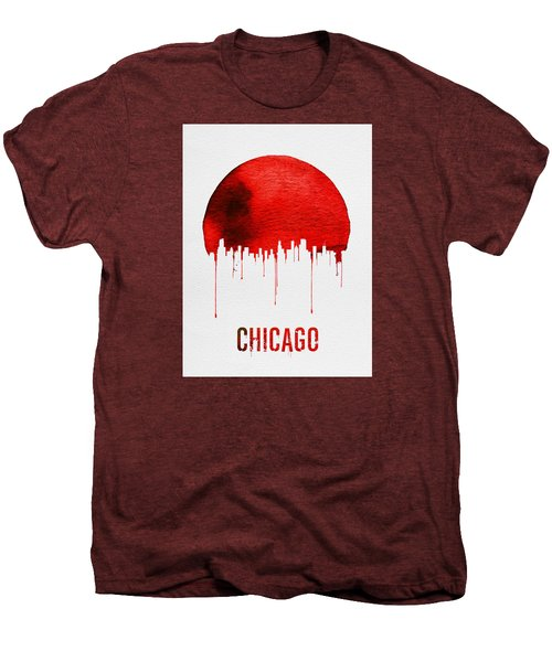 Chicago Skyline Red Men's Premium T-Shirt by Naxart Studio