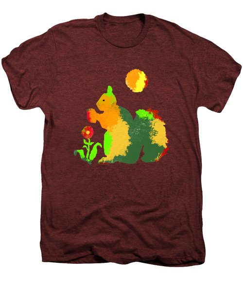 Colorful Squirrel 1 Men's Premium T-Shirt by Holly McGee