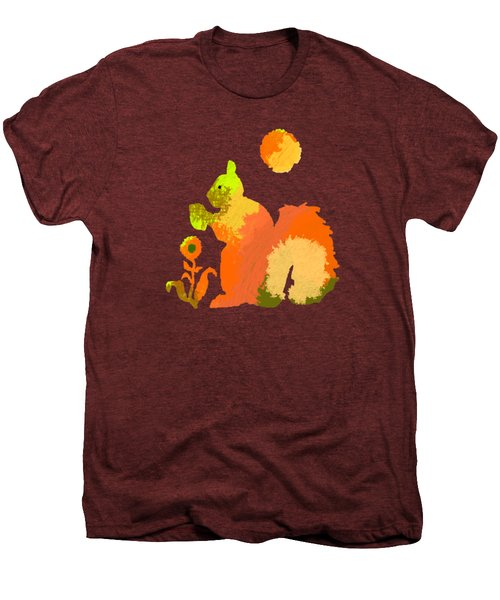 Colorful Squirrel 2 Men's Premium T-Shirt by Holly McGee