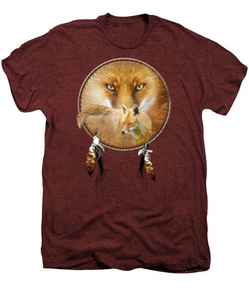 Dream Catcher- Spirit Of The Red Fox Men's Premium T-Shirt by Carol Cavalaris