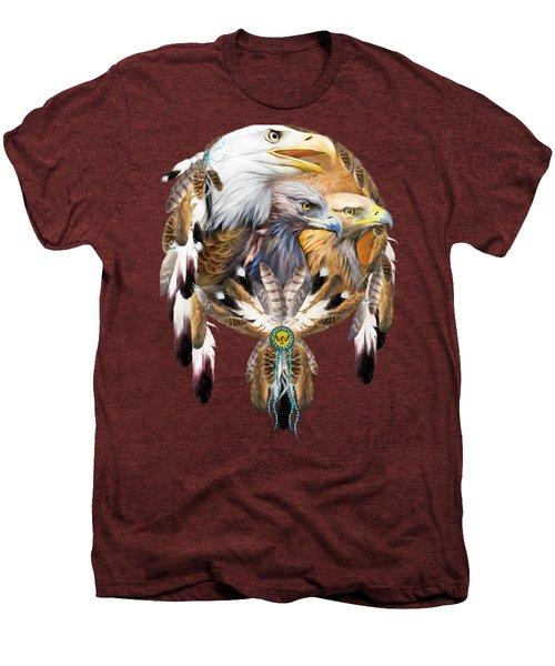 Dream Catcher - Three Eagles Men's Premium T-Shirt by Carol Cavalaris