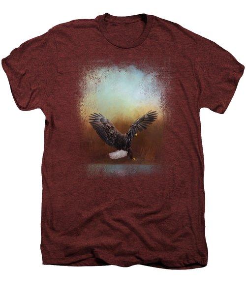 Eagle Hunting In The Marsh Men's Premium T-Shirt by Jai Johnson
