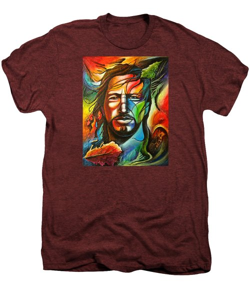 Eddie Vedder Men's Premium T-Shirt by Robert Stokley